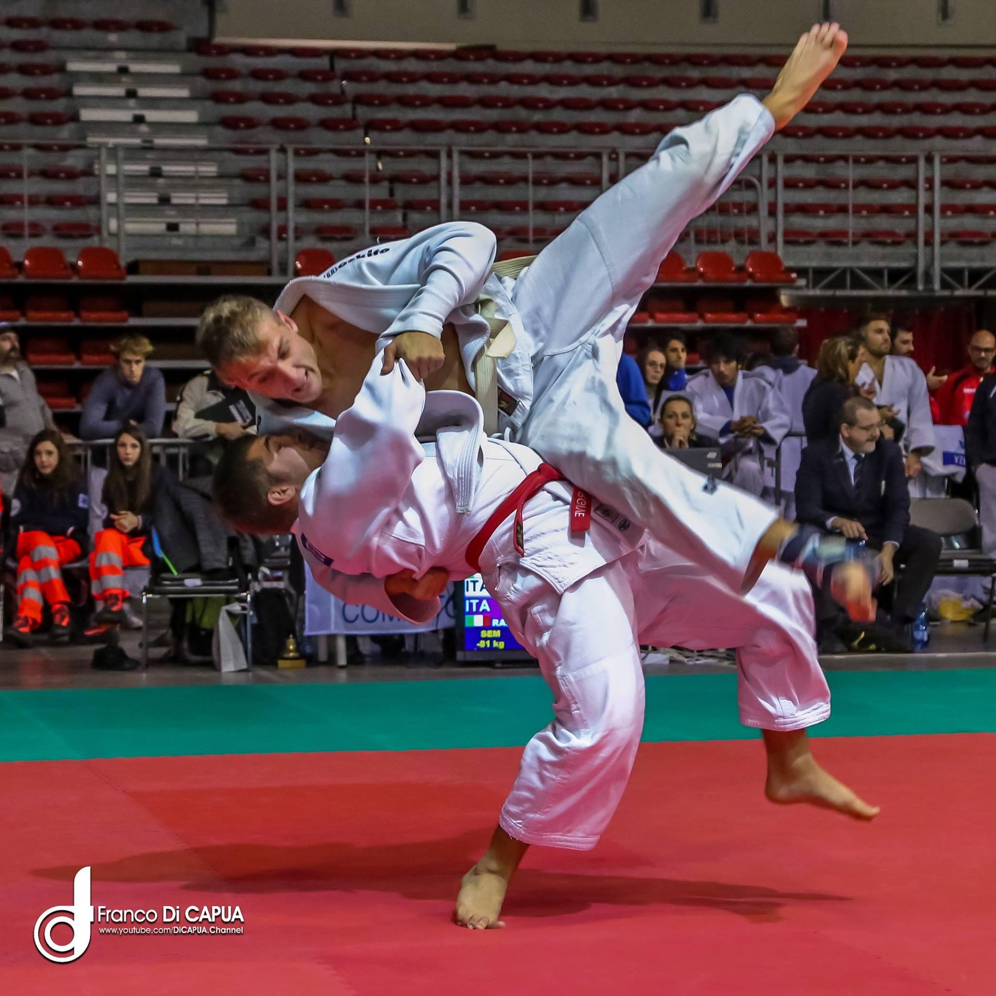 Matteo Rasini in azione.
